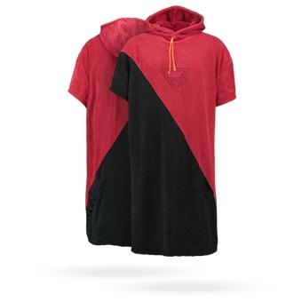Poncho  Men red